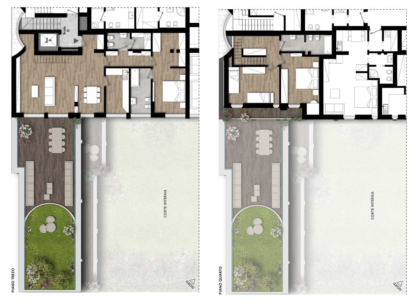 Plurilocali leopardi 15 for Planimetrie architettoniche